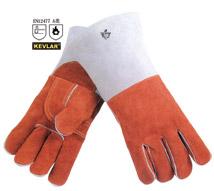 咖啡色耐高温皮手套