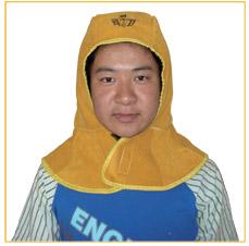 金黄色全皮护式焊帽