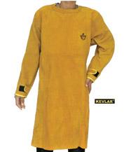 金黄色全皮长袖围裙