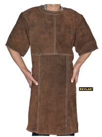 炭啡色全皮短袖围裙