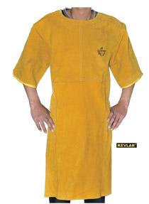 金黄色全皮短袖围裙