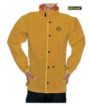 金黄色上身全皮焊服