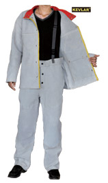 灰色全皮工作服